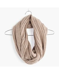 Madewell | Natural Softest Ribbed Circle Scarf | Lyst