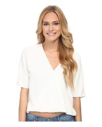 French Connection - White Aro Crepe Top - Lyst