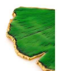 Aurelie Bidermann | Green 'ginkgo' Earrings | Lyst
