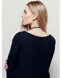 Free People | Black Stars Aligned Top | Lyst