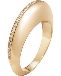 Georg Jensen | Metallic Dune 18ct Rose Gold And Cinnamon Diamonds Ring | Lyst