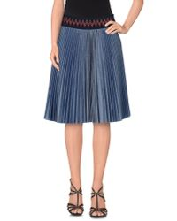 Pinko | Blue Denim Skirt | Lyst