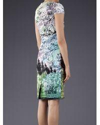 Mary Katrantzou Multicolor Cherry Blossom Print Dress