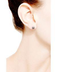 Dana Rebecca Emily Sarah Square Earrings in Black Diamond