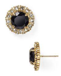 kate spade new york | Black Secret Garden Stud Earrings | Lyst
