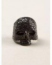Lynn Ban - Black Skull Ring - Lyst