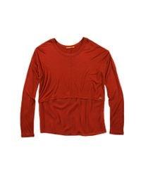 BOSS Orange Red Oversized Long-Sleeve Shirt 'Tacut' In Viscose