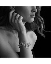 David Yurman - Metallic Willow Open Fourrow Ring with Diamonds in Gold - Lyst