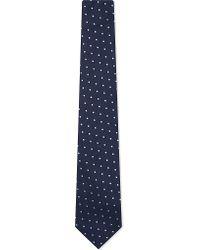 Paul Smith | Blue Contrast Spot Tie for Men | Lyst