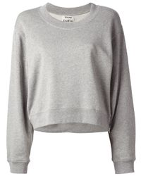 Acne Studios | Gray Bird Z Fleece Sweatshirt | Lyst