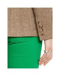 Polo Ralph Lauren Brown Silk Herringbone Jacket