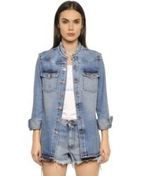 Off-White c/o Virgil Abloh - Blue Spray Paint Washed Cotton Denim Jacket - Lyst