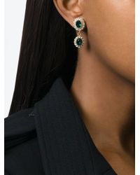 Givenchy | Green Dropped Gemstone Earrings | Lyst