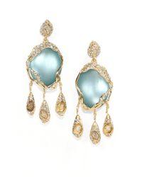 Alexis Bittar - Blue Lucite & White Quartz & Labradorite Doublet Drop Earrings - Lyst
