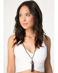 Bebe | Brown Tiger Eye Bead Necklace | Lyst