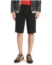 BOSS Orange Blue Regular-fit Shorts In Linen: 'stimo2-shorts-d' for men