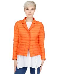 Add | Orange Quilted Jacket Down Jacket for Men | Lyst