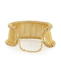 Alexander McQueen Metallic Gold-Tone Bar Choker