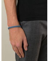 Ferragamo - Blue Woven Gancio Bracelet for Men - Lyst