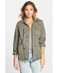 RVCA - Green 'banned From Norm' Print Military Jacket - Lyst