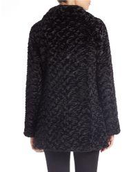 Eliza J - Black Persian Faux-fur Coat - Lyst
