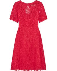 Goat Red Lace Cotton-blend Dress