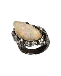 Arunashi | Natural Fire Opal Flames Ring | Lyst