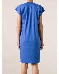 Jil Sander - Blue T-Shirt Dress - Lyst