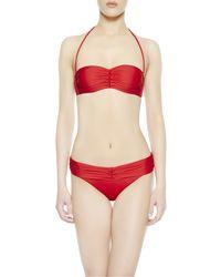 La Perla | Red Bandeau Bikini | Lyst