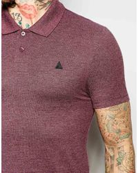 ASOS | Purple Pique Muscle Polo With Logo In Burgundy Marl for Men | Lyst