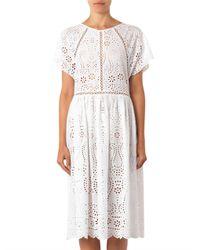 Zimmermann White Hydra Broderieanglaise Cotton Dress