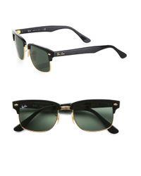 Ray-Ban Black Square Clubmaster Sunglasses