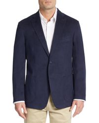 Ike Behar | Blue Faux Suede Blazer for Men | Lyst