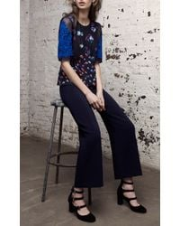 Rebecca Taylor Blue Navy Palazzo Suit Pant