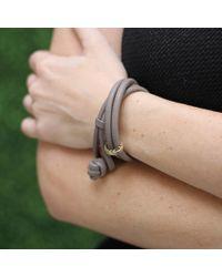 Mizuki | Gray Diamond Feather Wrap Bracelet/choker | Lyst