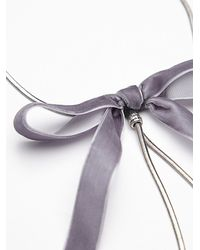 Free People - Gray Bow Tie Bolo Necklace - Lyst
