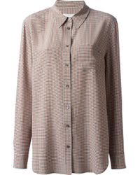 Equipment - Brown Houndstooth Shirt - Lyst