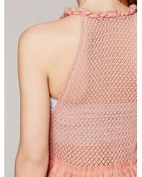 Free People - Pink Knotted Babydoll Tunic - Lyst