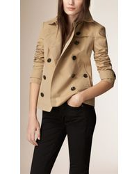 Burberry - Natural Cotton-Poplin Trench Jacket - Lyst
