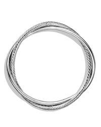 David Yurman Metallic Woven Cable Wide Cuff