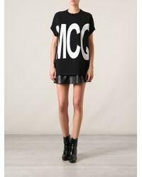 McQ - Black Short Sleeve Logo Sweater - Lyst