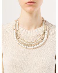 Ziio White Nil Nacre Multi-Stone Pearl Necklace