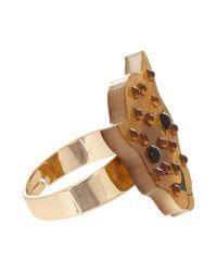 Tatty Devine - Black Leopard Ring - Lyst