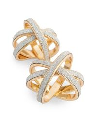 TOPSHOP - Multicolor Twisted Glitter Paper Rings - Lyst