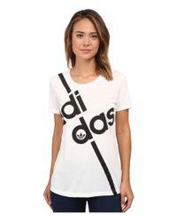 Adidas Originals - White Fashion Graphics Short Sleeve Tee - Lyst