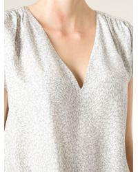 Joie Gray 'Kally' Floral Print Blouse