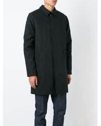 A.P.C. Black Boxy Trench Coat for men