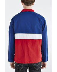 Stussy - Blue Colorblocked Anorak Jacket for Men - Lyst