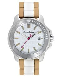 Tommy Bahama | Natural 'laguna' Silicone Bracelet Watch | Lyst