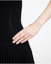 Repossi - Pink 18k Rose Gold White Noise Ring - Lyst
